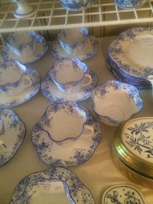 """Shelley """"Dainty Blue"""" china from England"""