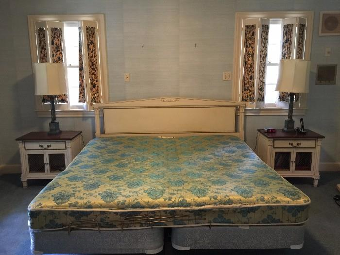 King bed with matching nightstands (also has matching  triple dresser)