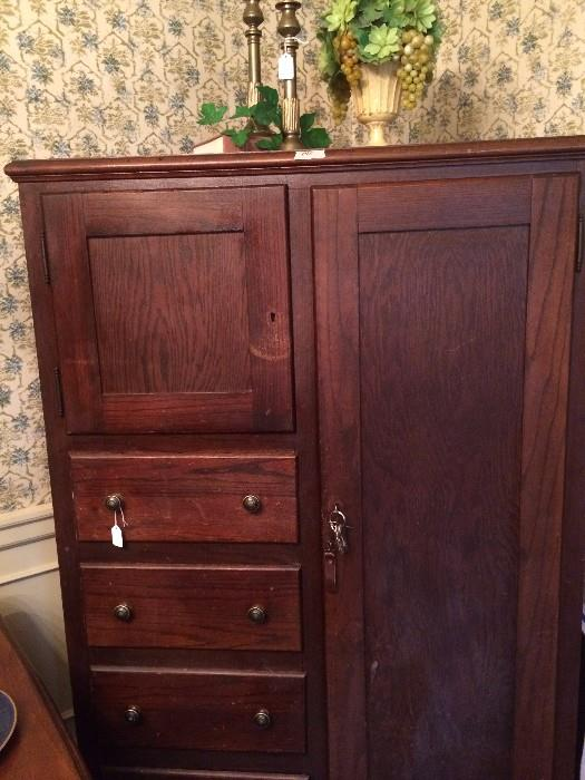Antique wardrobe consigned from a Greenbriar Lake estate