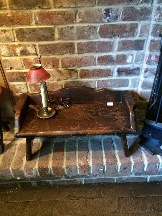 Small antique wooden bench