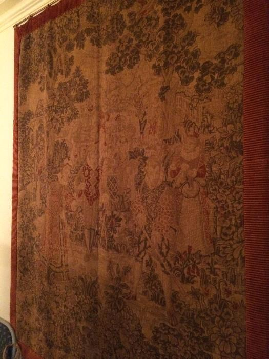 Extra large antique tapestry