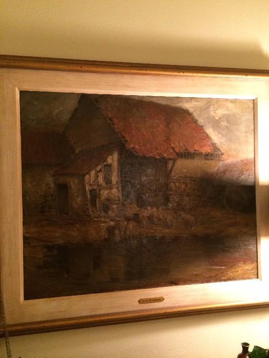 Framed oil by A.D. Turner