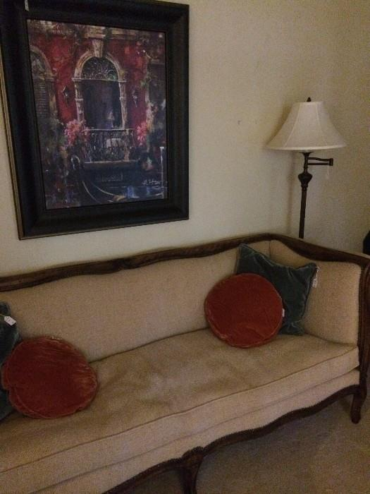 Long formal sofa