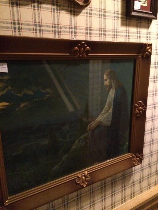 Framed art of Jesus