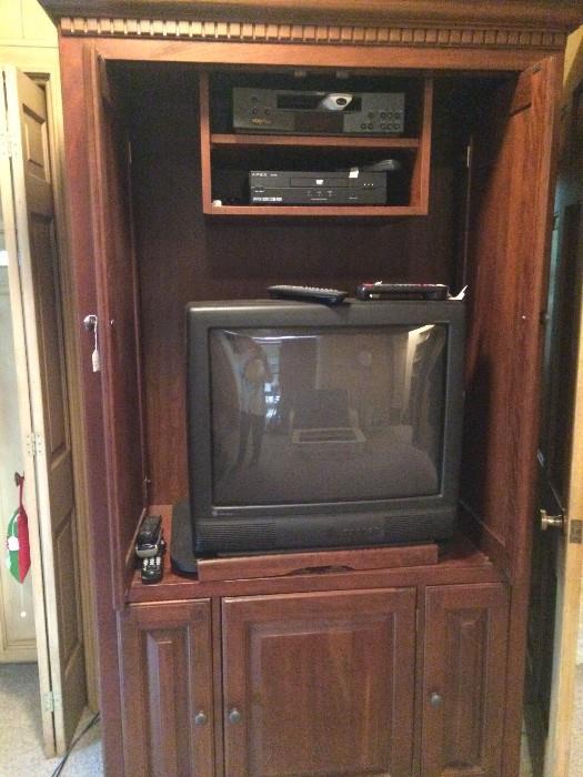 Entertainment cabinet; TV