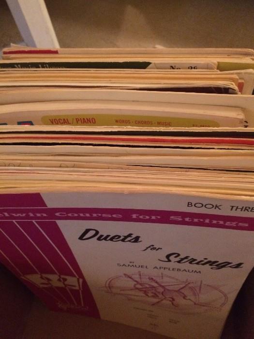 Assorted sheet music