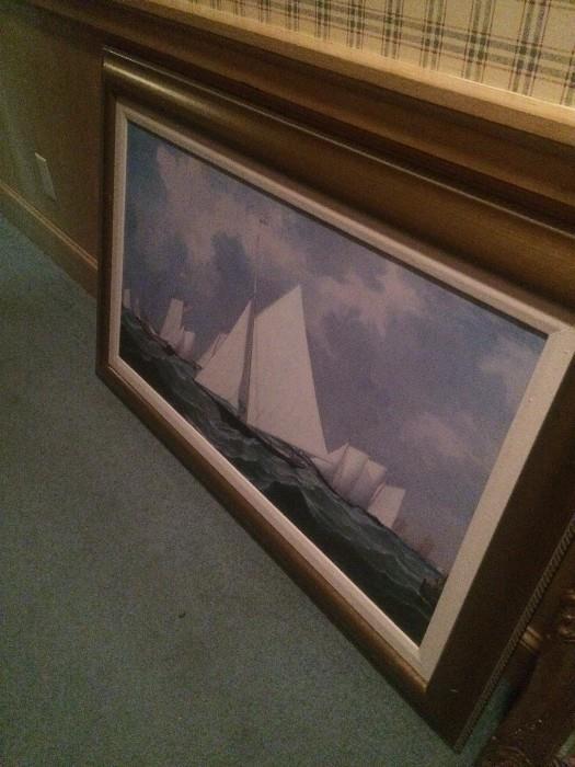 Sailboat framed art