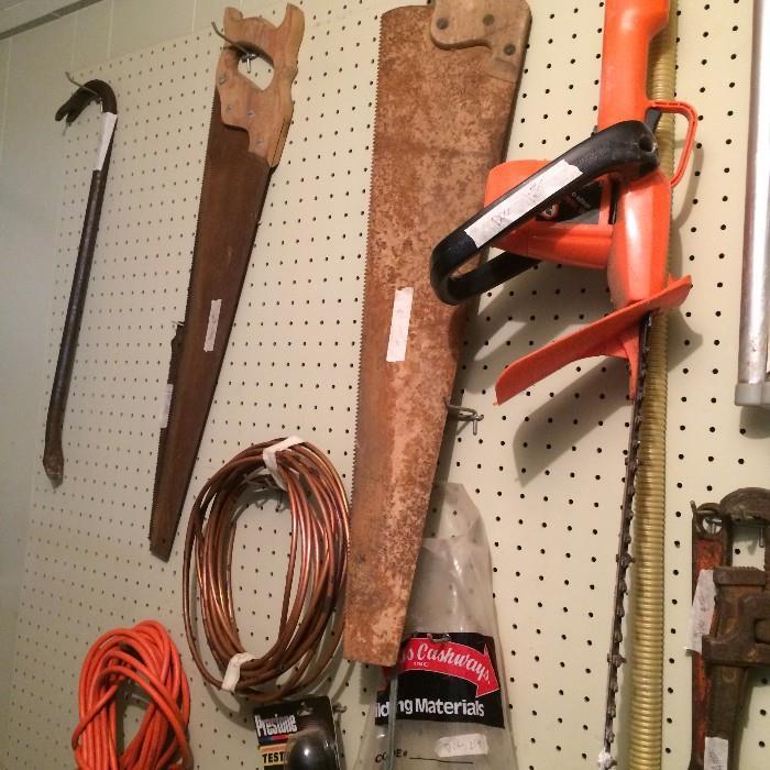 Several hand tools