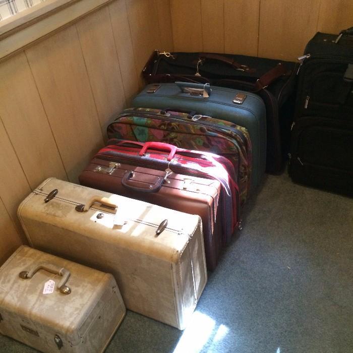 Variety of vintage luggage