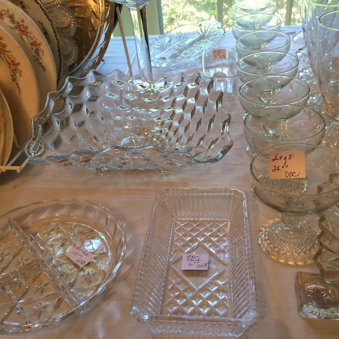 Fostoria bowl and other lovely glassware