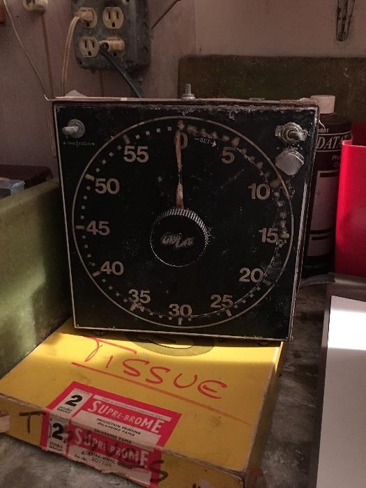 Vintage dark room equipment