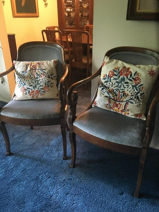 Pair occasional chairs