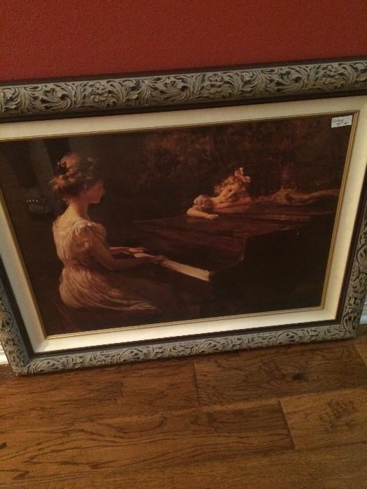 Piano framed art