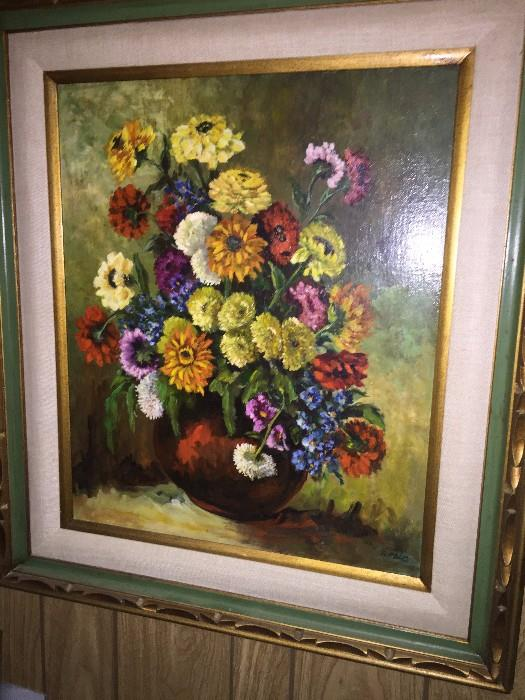 FLOWERS FRAMED ART