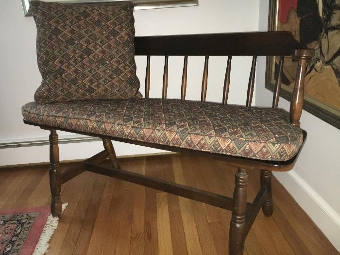Hand made bench with cushions