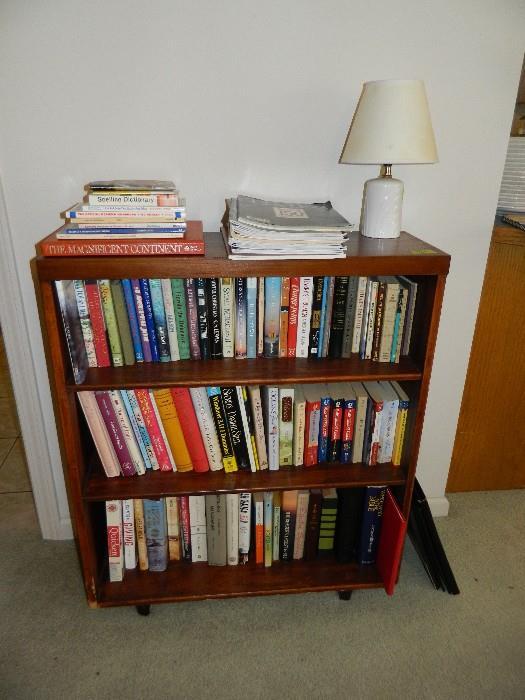 Bookshelf, various hardback and paperback books