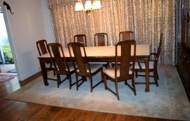 Ethan Allen dining table,8 chairs
