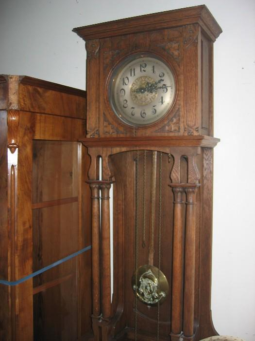Oak clock from approximately 1920's from a Connecticut home.