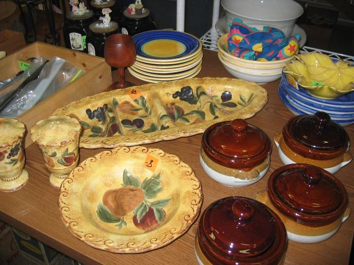 Serving pieces to add color to your table