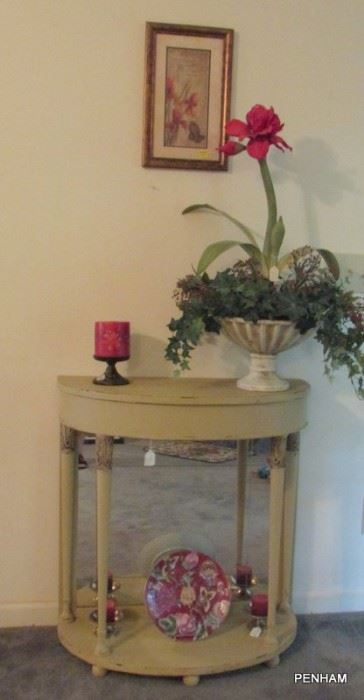 Beautiful hall table has been repainted with chalk paint and looks great! Come take another look.