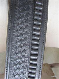 Black leather belt/holster