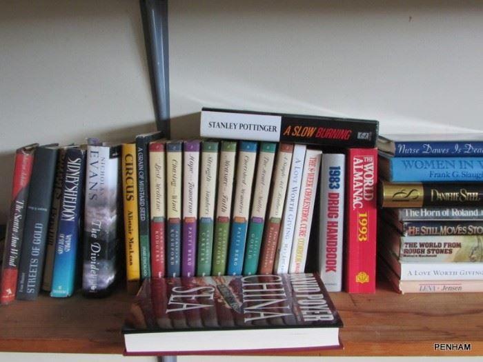 Hardback and paperback book selection.