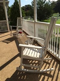 Country Porch White Wooden Rockers