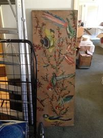 50s hand painted room divider