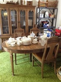 Noritake fine china set, crystal, mid-century modern dining room set