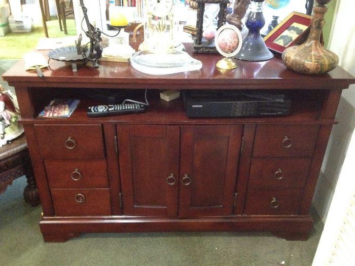 clocks, cabinet, vintage