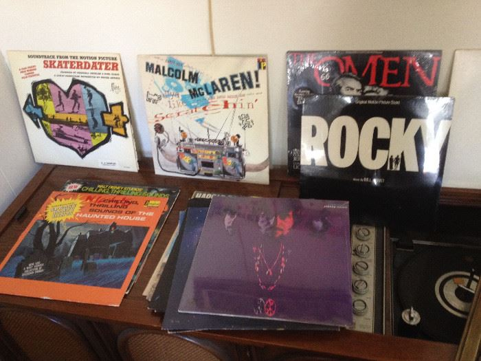 new wave Lps, records, movie records, console