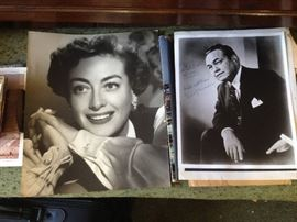 Joan Crawford , Edward G Robinson Autographs and Hollywood Memorabilia