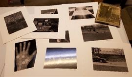 Matted and signed black and white photos