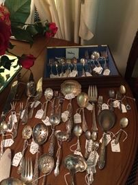 Great assortment of sterling serving pieces