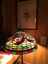 Stain glass floor lamp