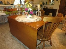 Another View Of the Tell City, Hard Rock Maple, Dining Room Table And Chairs. Great Furniture!