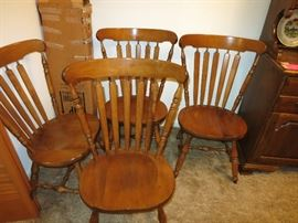 4 of the 6 Tell City Chairs That Go With The Dining Room Table