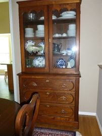 Beautiful antique cupboard..note:  more of the contents was taken by the owner