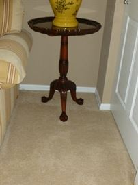 Also a tilt-top piecrust table, not as old as the larger one..beautiful!