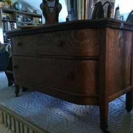 Another oak chest of drawers….Definitely tiger oak!!