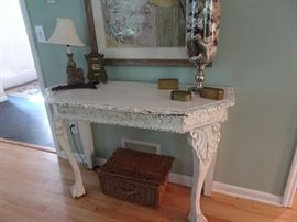 Beautiful distressed Console Table - 4' x 1.75' X 2.75'