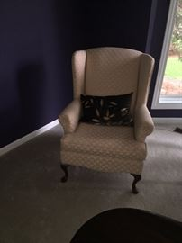 CREAM WINGBACK CHAIRS-2 AVAILABLE