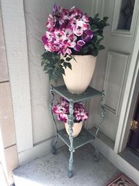 BEAUTIFUL WROUGHT IRON FLOWER STANDS