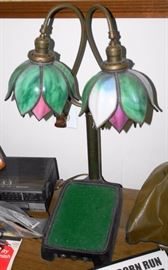 Double Stained Glass Lamp