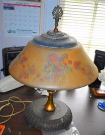 Reverse Painted Lamp