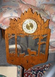Uniquely Carved Clock
