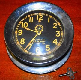 U.S. Navy Ships Clock