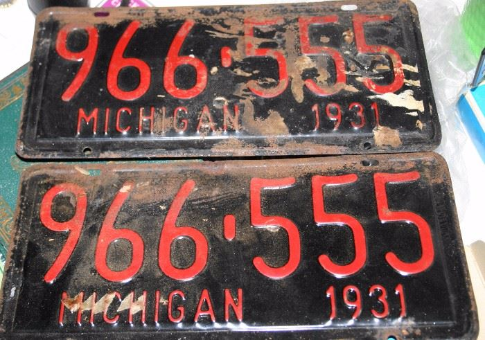 1931 MI License Plates
