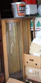 Curved Glass Oak China Cupboard Needs Refinishing