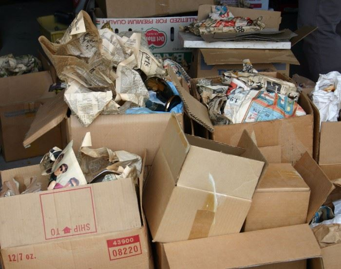 Boxes Still Needing To Be Unpacked